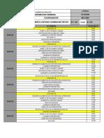 Plan de Trabajo Coordinacion 11 Al 16 Enero 2016