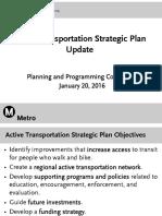 Active transportation strategy presentation