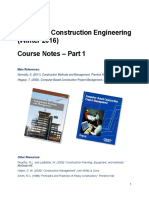 Construction Engineering Notes