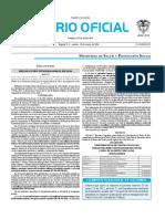 Diario oficial de Colombia n° 49.760. 19 de enero de 2016