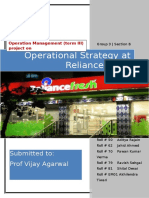 OM III Project Report Reliance Fresh Group 3 Sec B