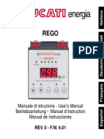 Ducati Rego - Regulator - Manual de Utilizare