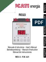Ducati Rego - Regulator - Manual de Utilizare