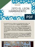 Ernesto El Leon Hambriento Jobana Gamez