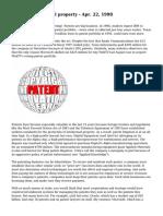 Patents intellectual property - Apr. 22, 1998