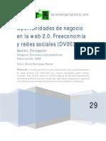 DV00302A Oportunidad Negocio Internet Web 2.0 Freeconomia Redes Sociales