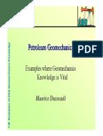Petroleum Geomechanics