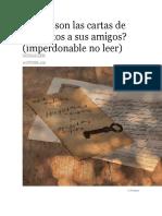 Cómo Son Las Cartas de Los Santos a Sus Amigos