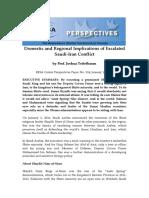 Implications of Saudi Iran Conflict