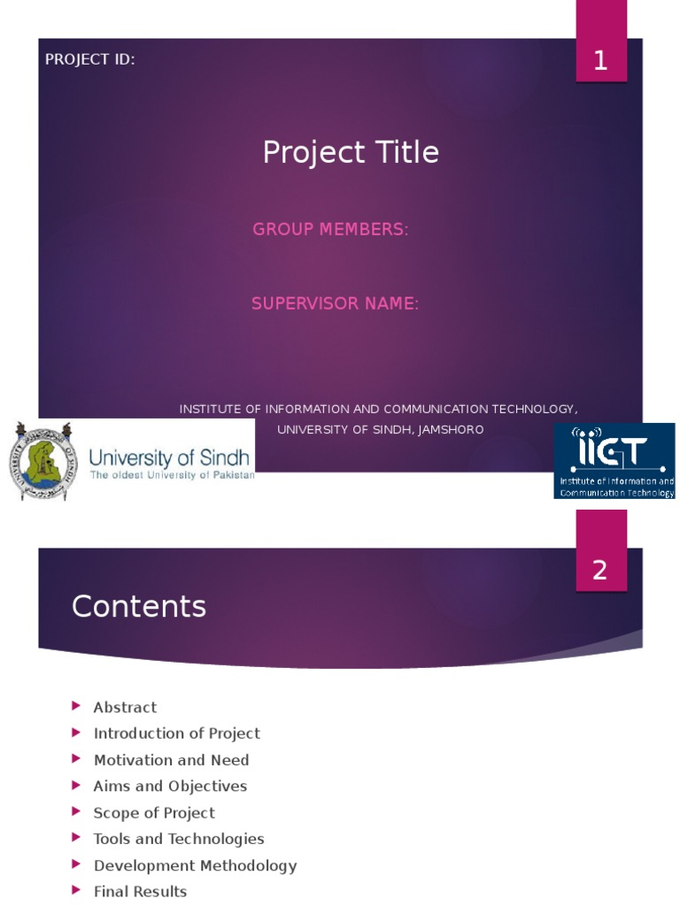 Fyp Project Presentation Template Use Case Systems Science