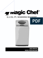 Magic Chef Washer manual Model Mcstcw21w2.