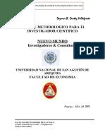 Manual Metodologico Para El Investigador Cientifico