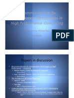 Recommendations for Virtualization Technologies in High Performance Computing