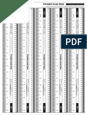 photograph regarding Printable Scale Ruler titled Printable Scale-ruler 1 64