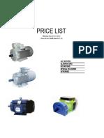 Price list 1-1-2014