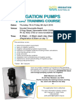 Pump Course Newcastle NSW April 2016