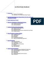 Federal Work Study Handbook
