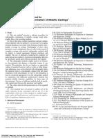 E1030-00 Examination of Metallic Castings