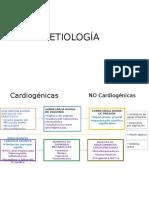 Etiología Edema Pulmonar