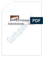 Validation _ Substitution by Guntupalli Hari