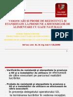 12. Verificări Şi Probe de Rezistenţă Şi Etanşeltate La Presiune a Sistemelor de Alimentare Cu Gaze Naturale