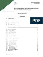 ESTUDIOS DEFINITIVOS DE INGENIERIA PARA LA CONSTRUCCION DEL PUENTE CARROZABLE QUIRISHARI