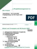 Web Project Projektplanung