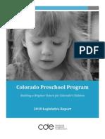 2010 Legislative Report