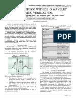 ANALYSIS OF ECG WITH DB10 WAVELET USING VERILOG HDL