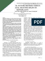 TRANS-SEPTAL SUTURE METHOD VERSUS INTRANASAL SILICONE SPLINT IN SEPTOPLASTY