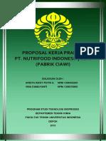 Proposal Kerja Praktik Nutrifood VINA - ARDITA UI