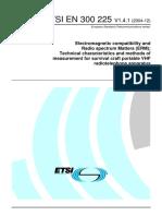 ETSI EN 300 225 V1[1].4.1 (2004-12)