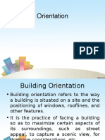 Orientation of buildings