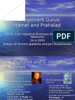 Theoretician Hamel Prahalad