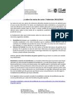 Orientaciones Sobre Notas Corte Abril 2013