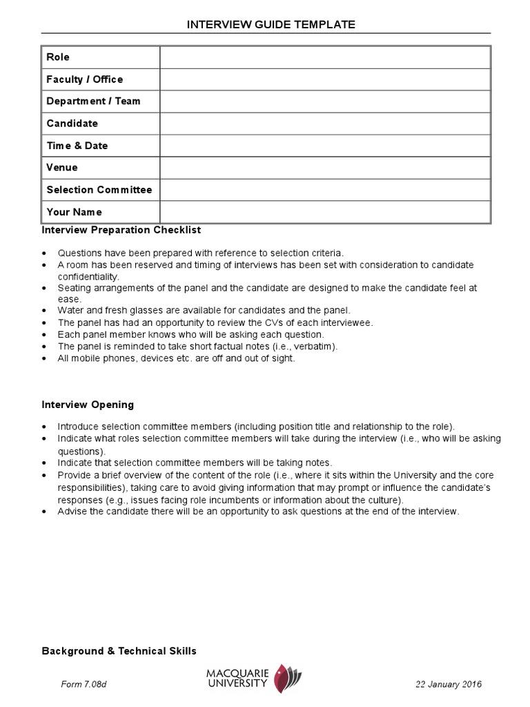 Interview guide template self improvement motivation maxwellsz