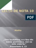 Lectii de Nota 10