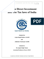 Foreign Direct Investment and the Tax Laws of INDIA