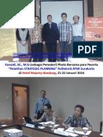 "Kanaidi, SE., M.Si., cSAP (sebagai Pemateri) ""Strategic Planning Training"" bagi para Dosen Politeknik ATMI Surakarta"