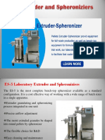 Pellet Extruder and Spheroniziers
