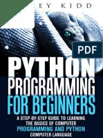 Programacion en Python para beginners