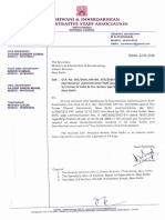 Letter to Secretary intimating stay on recovery