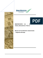 BMFBOVESPA Manual de Procedimentos Operacionais Acoes
