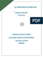 Banking Ombudsman 2012-13
