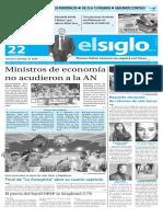 Edición Impresa El Siglo 22-01-2016