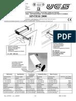 UCS 40313 Sintesi2000 UseManual