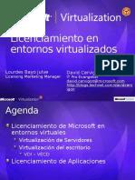 Licenciamiento en Entornos Virtualizados