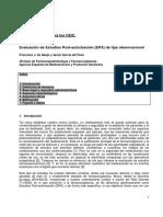 Evaluación de Estudios Post-autorización (EPA) de tipo observacional