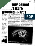 Theory Behind High Pressure Grouting - Barton