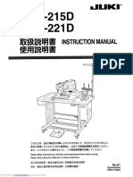Instruction Manual Juki AMS 215D